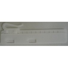 Gordijnhaak verstelbaar/Vernaaibaar 7,5cm