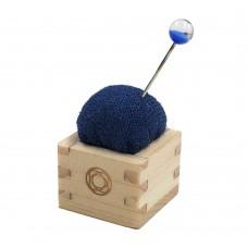 Speldenkussen Luxe Hout Mini Blauw