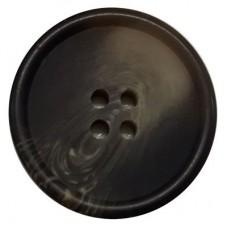Knoop Donkerbruin 25 mm per stuk