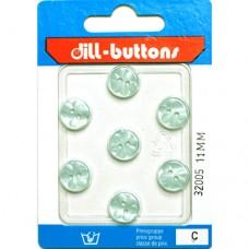 Kleine Knoopjes Pastelblauw - 7 stuks
