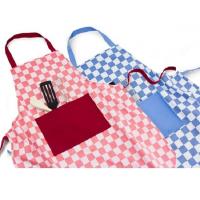 Keukenschort Ruit - In rood of blauw