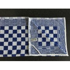 Keuken Handdoek - Blauw geblokt
