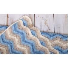 Baby Ripple Blanket Blue Haakpakket