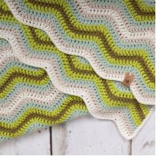Baby Ripple Blanket Green Haakpakket