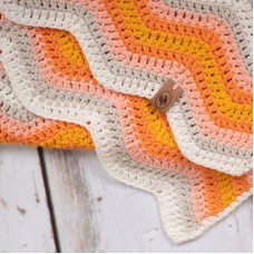 Baby Ripple Blanket Orange Haakpakket