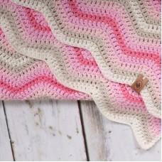Baby Ripple Blanket Pink Haakpakket