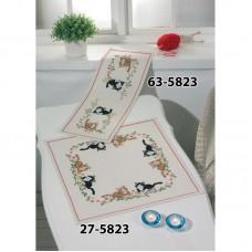 Borduurpakket Tafekleedje katten en bloemen