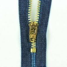 Rits voor jeans goud fijn