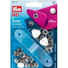 Drukknopen Jersey Parelmoer 12mm