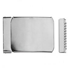 Gesp Klikmodel 40 mm Zilver
