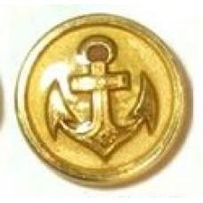 Knoop goud anker MAT 22 mm