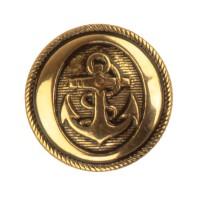AANBIEDING: Knoop Anker Antiek-Goud 18 mm