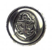 AANBIEDING: Knoop Anker Oud-Zilver 18 mm