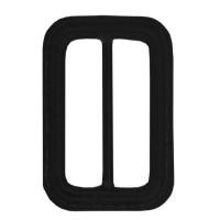 Schuifgesp 60 mm Zwart Leder