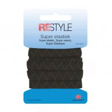 Super Elastiek 10mm Zwart