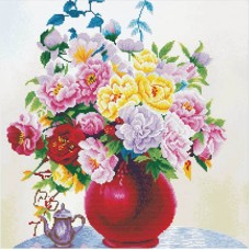 Cabbage Roses in a vase