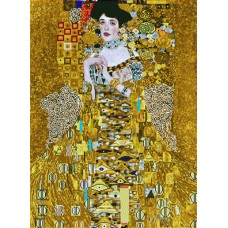 Diamond Painting kit woman in gold