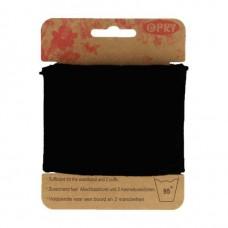 Boordstof uni zwart