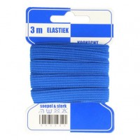 Color Elastiek 10mm Blauw