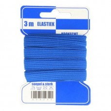 Color Elastiek 10mm Blauw