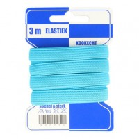 Color Elastiek 10mm Turquoise