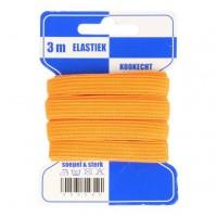 Color Elastiek 10mm Oranje