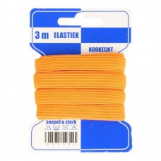 Color Elastiek 10mm Oranje