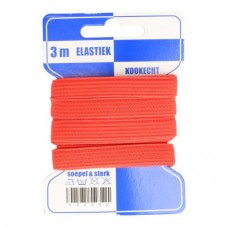 Color Elastiek 10mm Rood