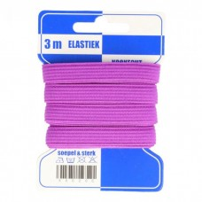 Color Elastiek 10mm Lavendel