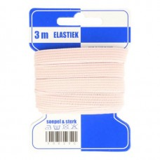 Color Elastiek 10mm Huidskleur