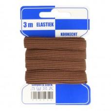 Color Elastiek 10mm Bruin