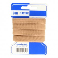 Color Elastiek 10mm Beige
