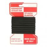 AANBIEDING: Elastiek 6mm zwart 10 meter Voordeelpak