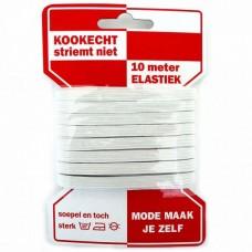AANBIEDING: Elastiek 6mm wit 10 meter Voordeelpak