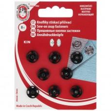 AKTIEPRIJS: Drukknopen - Zwart 11mm 8 stuks