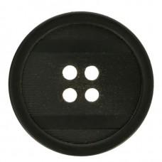 Grote Knoop Zwart 28mm - Voor jas of kostuum