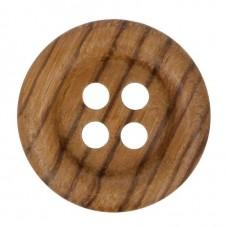 Houten Knoop 28 mm OP=OP