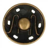 Grote drukknoop - Manteldrukker 21mm Brons