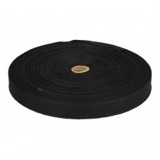 Katoenband 15mm Zwart OP=OP