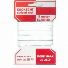 AANBIEDING: Standaard Elastiek 10mm Wit