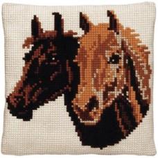 AANBIEDING Borduurpakket - Kussenpakket Paarden