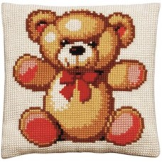 AANBIEDING Borduurpakket - Kussenpakket Teddybeer