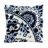 AANBIEDING Borduurpakket - Kussenpakket Delfts Blauw
