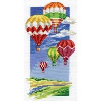 Borduurpakket Air balloons