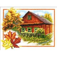 Borduurpakket Autumn house