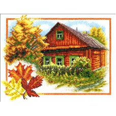 Borduurpakket Autumn house