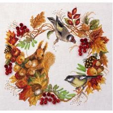 Borduurpakket Autumn wreath