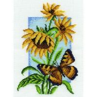 Borduurpakket Buttefrly with flower IV