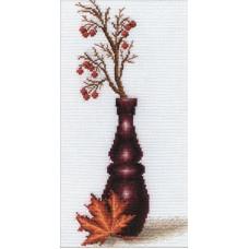 Borduurpakket Red berries - Compleet pakket met telpatroon