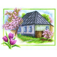 Borduurpakket Spring house